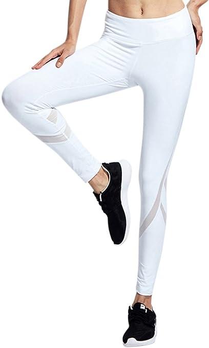 Pantalon Chandal de Malla Mujer Pantalones Deportivos Elásticos de ...