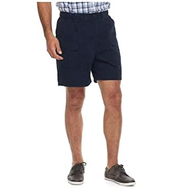 156b209ccc Amazon.com: Croft & Barrow Side Elastic Relaxed Fit Cotton Cargo Shorts  (Admiral Navy, 46): Clothing