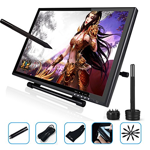 Ugee 1910B Interactive Pen Display Drawing Monitor Graphics Tablet 19 Inch LCD Screen with 2 Pens,1 Protector Film and 1 Glove by Ugee