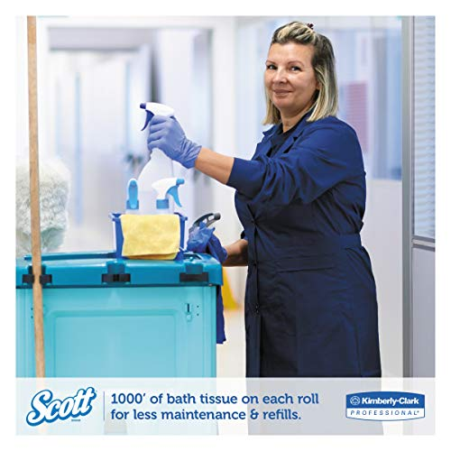 Scott Essential Jumbo Roll JR. Commercial Toilet Paper (67805), 100% Recycled Fiber, 2-PLY, White, 12 Rolls / Case, 1000' / Roll