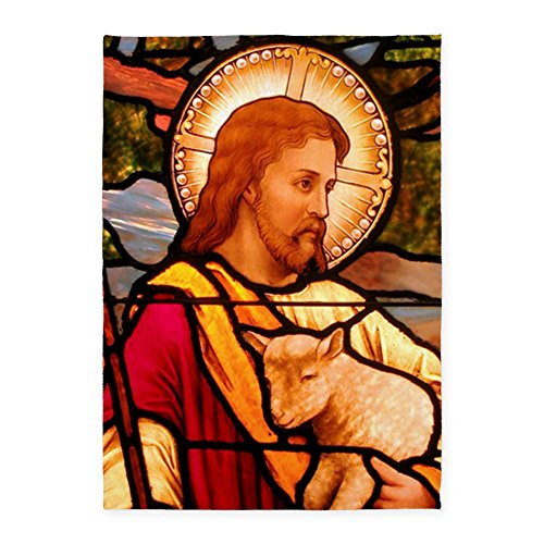 5' x 7' Area Rug Jesus Christ Lamb Stained Glass by Royal Lion