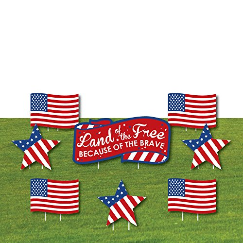 Big Dot of Happiness Patriotic - Yard Sign & Outdoor Lawn Ce