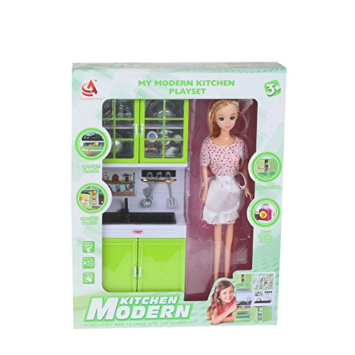 Buy The Flyers Bay Beautiful Modern Kitchen Set With Doll Green