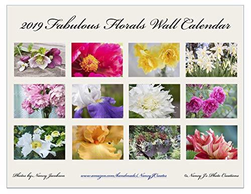 2019 Fabulous Florals Wall Calendar Fine Art Botanical Photography Gift for Flower Lover Twelve Monthly 11x8.5
