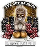 Collectible Poker Decals (6in,6pack), Share your Passion and Appreciation with our vinyl Got the Nutz Stickers for your Home, Car, Cases and more, Souvenir Gifts for Poker Players