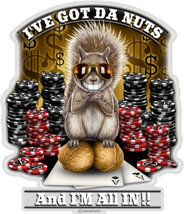 Bike Poker (Poker Decals, Show Your Pride with our Got the Nutz Poker Decals, Perfect for Your Kitchen, Car, Wall or Bike, Gifts for Poker Players (3 vIn))