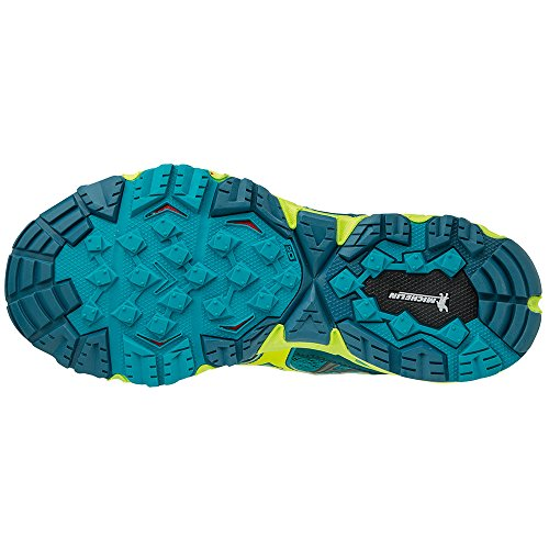 Mizuno Wave Mujin Wos, Chaussures de Running Femme bleu/jaune fluo/bleu
