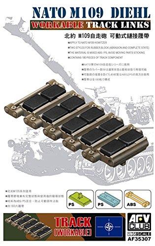 AFV35307 1:35 AFV Club NATO M109 Diehl Workable Track Links [MODEL KIT ACCESSORY]