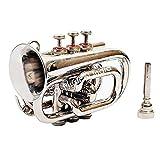 Sai Musical India PoTr-05, Pocket Trumpet, Bb, Nickel