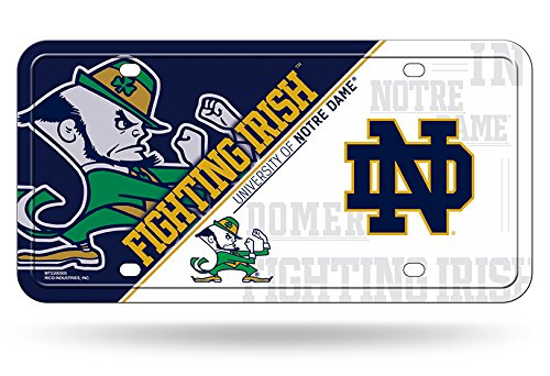 Rico Industries NCAA Notre Dame Fighting Irish Metal License Plate Tag, 6