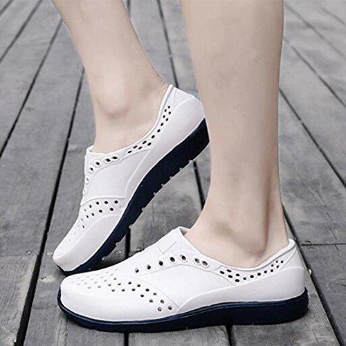 Zapatos Antideslizantes De Sandalias White para Playa Hombres Zapatillas Tacos Casuales con De Verano Sandalias Y OxBnpq