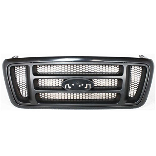 - Koolzap For 04-08 F150 STX & FX4 Pickup Truck Front Grill Grille Assembly H-Bar Design Black