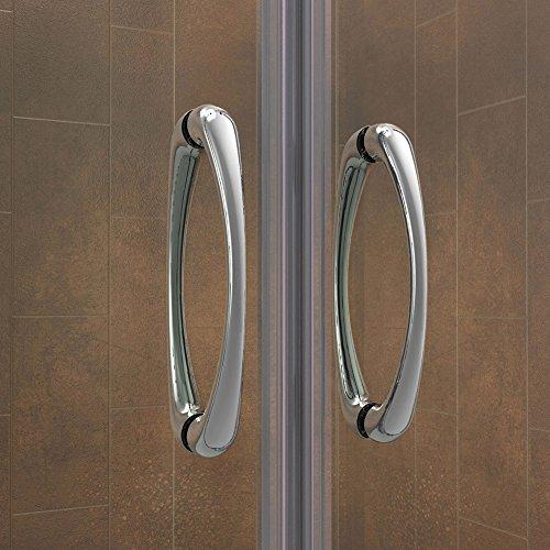 DreamLine Visions 56-60 in. Width, Frameless Sliding Shower Door, 1/4'' Glass, Brushed Nickel Finish by DreamLine (Image #5)