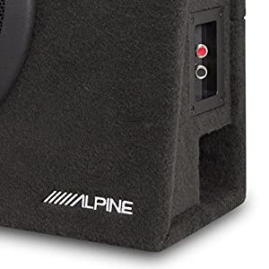 "Alpine 10"" Subwoofer Box + Planet Audio Car Amplifier w/Amp Kit"