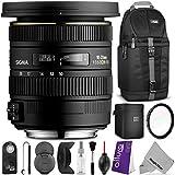 Sigma 10-20mm f 3.5 EX DC HSM ELD SLD Wide-Angle Lens for NIKON DSLR Cameras w Essential Photo and Travel Bundle