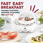 Dash Rapid Egg Cooker: 6 Egg Capacity Electric Egg Cooker for Hard Boiled Eggs, Poached Eggs, Scrambled Eggs, or Omelets…