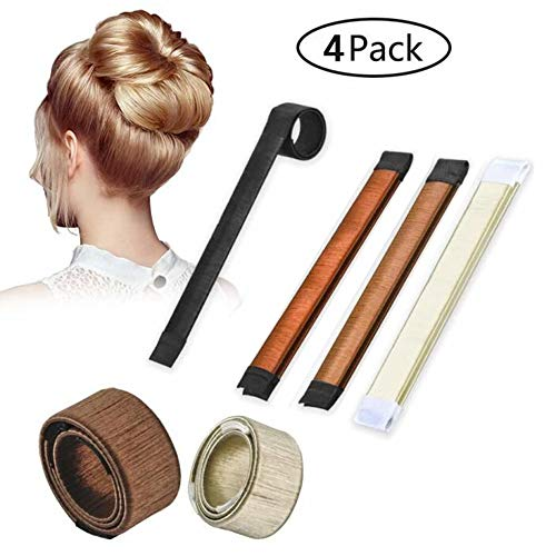Used, Magic Hair Bun Maker, 4 Pcs French Twist Hairstyle for sale  Delivered anywhere in Canada