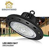 BRIGHTINWD 200 Watt Led High Bay UFO Lights 20000 Lumen 3000K Warm White Warehouse Lighting Fixtures for industrial lighting (Warm White, 200W)