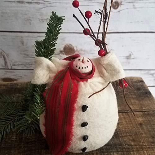 Pattern Doll Primitive Art Folk - Primitive Folk Art Winter Holiday Christmas Charlie Snowman Decor