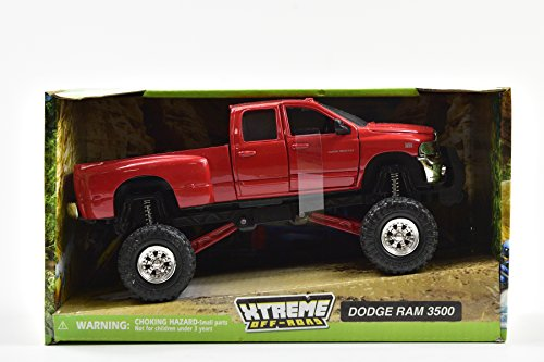 New-Ray Toys Inc, Dodge Ram Hemi 3500 4x4 Pickup Truck Raised w/ Working Suspension
