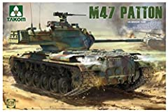 1/35 Takom M47/G Patton US Medium Tank 2 In 1 In the early 1950's, the U.S.A. found itself committed to defending the newly formed cold war NATO alliance in Europe against the Warsaw Pact forces, and fighting a hot war in Korea, resulting in ...