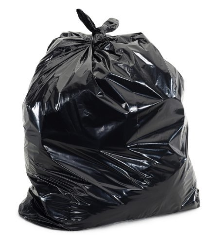 Super Value Heavy Duty Contractor Trash Bag, Extra Thick and Puncture Resistant, Black, 3 Mil, 20 Bags, 42 Gallon,