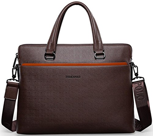 Can Shoulder Hylm Business Men Leather Bag Diagonal Brown Package Black Briefcase New SrYBqwZY0