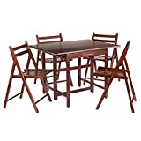 Wood Folding Table with Chair Storage Winsome Wood Taylor 5-Pc Set Drop Leaf Table W/ 4 Folding Chairs