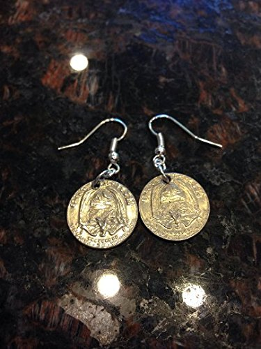 Review Panama 10 cents coin earrings.