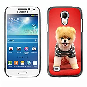 Design for Girls Plastic Cover Case FOR Samsung Galaxy S4 Mini i9190 Red Puppy Dog Funny Pet Cute Canine OBBA