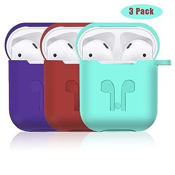 Amazon.com: Airpods - Funda protectora de silicona para ...