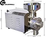 CGOLDENWALL SY-1200 No base Small Stainless steel grain mill Food Processing Machinery Multi Function Grain Grind Mill superfine grain grinderPowdering machineLapping machine (220V)