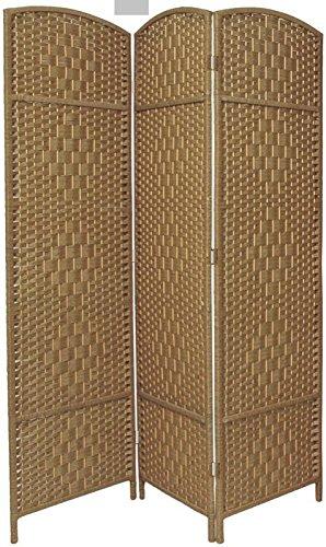 BlueBoxInnovations 3 Panel Entwine Handmade Natural Coloured Room Divider/Splitter Screen LHS