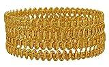 Best Mom Jewelry Sets - Matra 18K Goldplated Ethnic 4 Pcs Churi Bangle Review