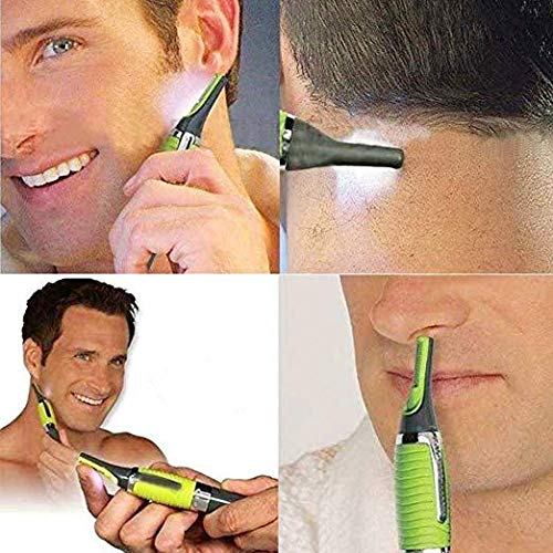 All in One Hamer Grade Precision Battery Powered Eyebrow Ear Nose Hair TRIMMER for Men and Women Precision Trimmer/Groomer, (As seen on TV) with LED Light