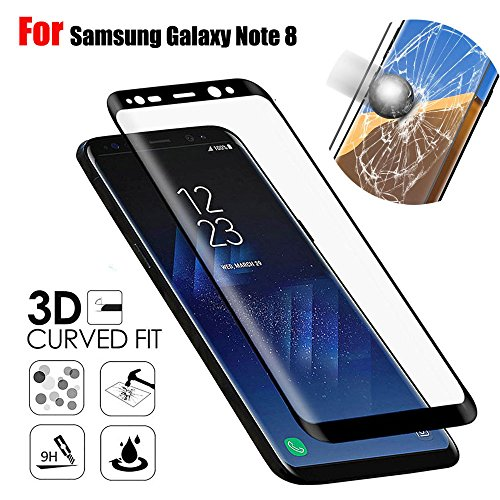 Make Dust Bunny Costume (Kanzd Screen Protector 9H Curved Full Temper Glass Film For Samsung Galaxy Note 8 (Black))