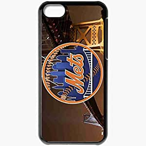 Personalized iPhone 5C Cell phone Case/Cover Skin 14999 Mets Bridge by monkeybiziu Black