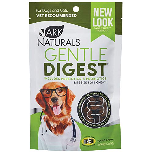 Ark Naturals Gentle Digest Soft Chews, Vet Recommended Prebiotics and Probiotics to Support Intestinal Balance and Immune System Health in Dogs and Cats, Natural Ingredients, 120 Count