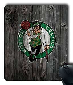 Boston Celtics on Wood Rectangle Mouse Pad by eeMuse
