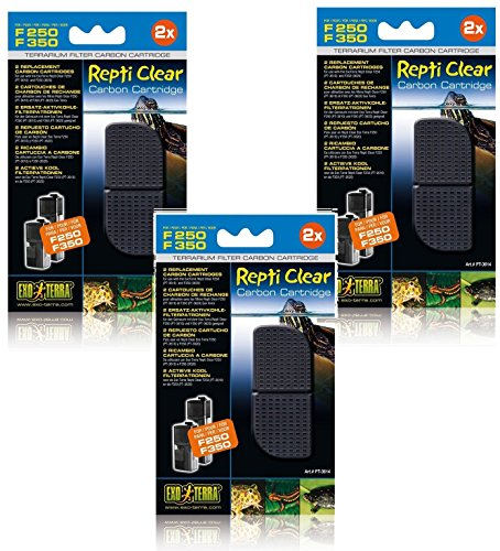 Image of (3 Pack) Exo Terra Repti Clear 250 Carbon Cartridges, 2 Cartridges each