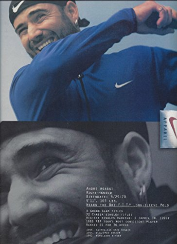 **PRINT AD** With Andre Agassi For Nike Apparel **PRINT AD**