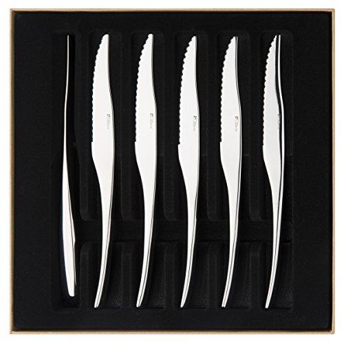 Degrenne 206293 Gourmets Mirror Finish Steak Knife, Silver by DEGRENNE