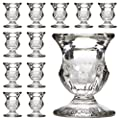 "Hosley's Set of 12 Glass Taper Candle Holders - 2.5"" High. ideal for weddings, party favor, gifts"