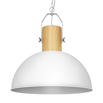 Tomons Lampe De Plafond LED Plafonnier En Métal Et Bois, Suspensions Lustre  Du0027éclairage Style Moderne ...