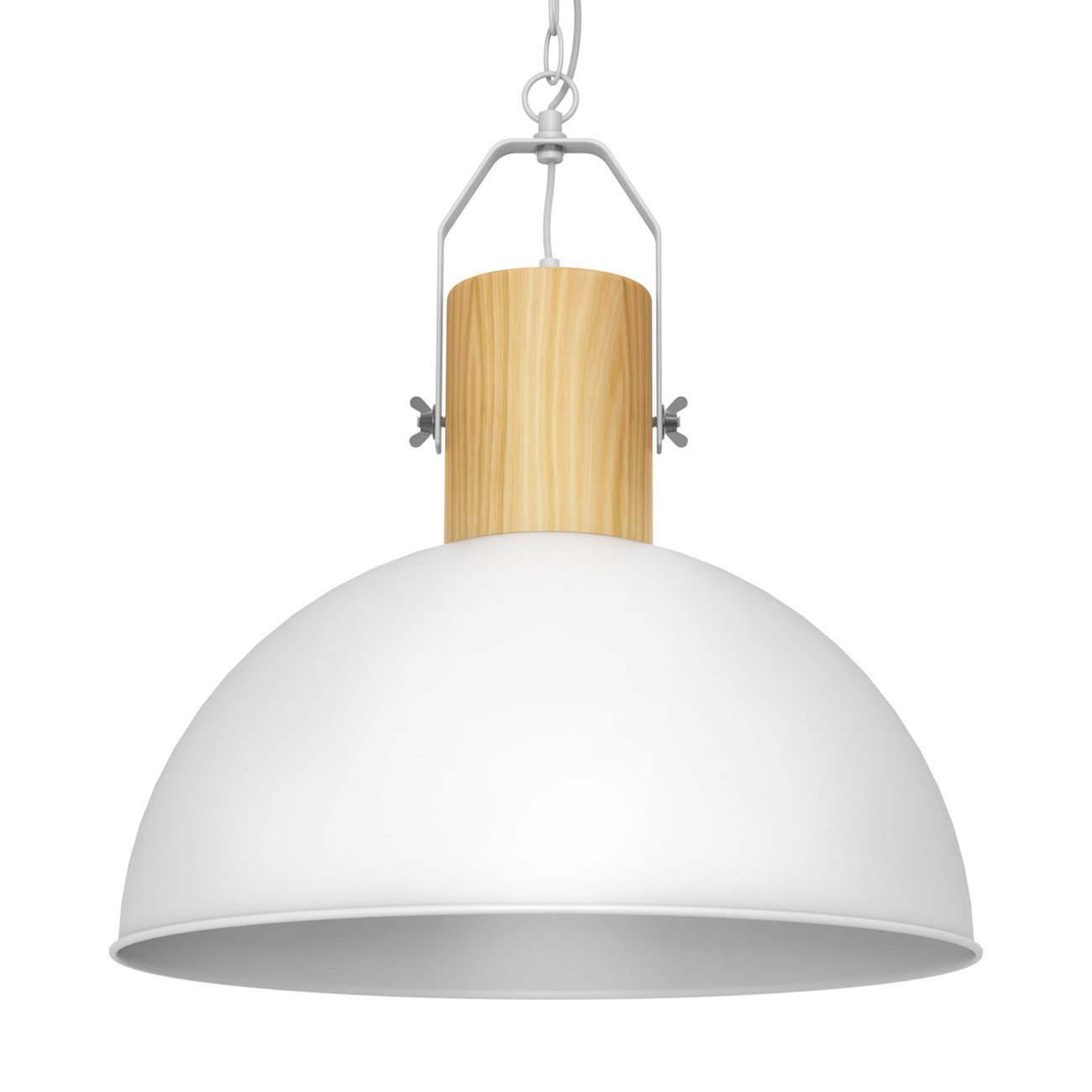 Tomons Wood Pendant Light, Modern Simple Ceiling Lightning with Metal Lampshade for Kitchen Island, Restaurants, Cafeteria of Nordic, Minimalist and Other Decor Style,8W LED Bulb Included - PL1005