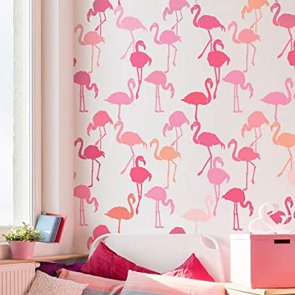 Flamingo Allover Stencil - Reusable Stencils for Walls - DIY Home ...