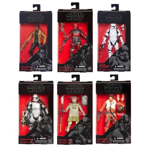 Star Wars VII Force Awakens Black Series 6-Inch Action Figures Wave 2 Case Set of 6