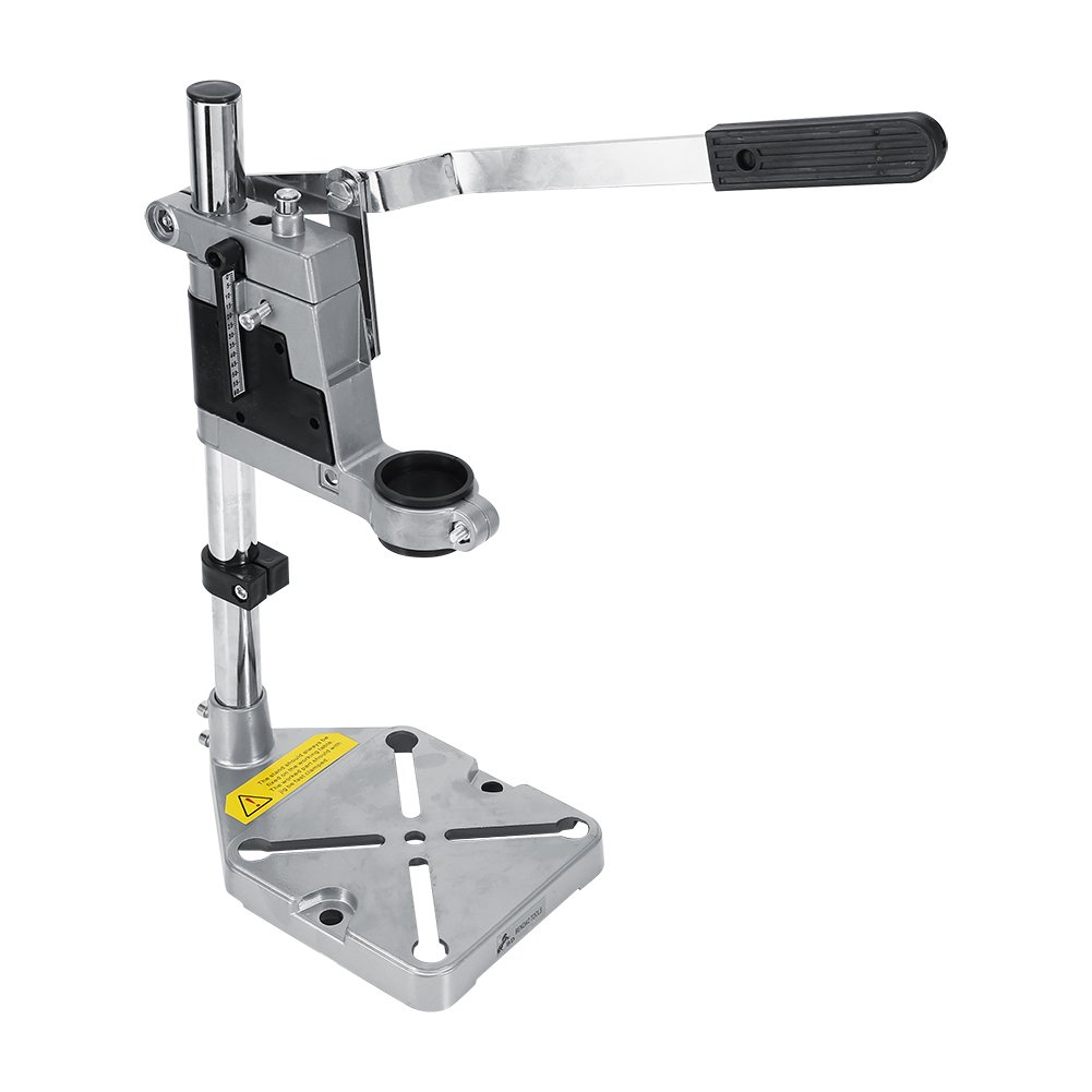 Multi-functional Bench Drill Press Stand, Workbench Repair Tool Bench Clamp for Drilling Collet Workshop 38 and 43mm with Single-hole Aluminum Bottom
