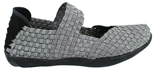 Bernie Mev Womens Cuddly Shoe Pewter 41 M EU / 10.5-11 B(...