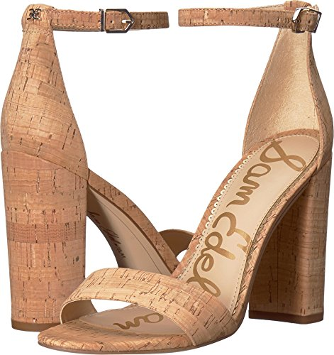 Sam Edelman Women's Yaro Ankle Strap Sandal Heel Natural Premium Cork 12 M US
